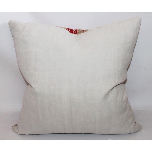 Red Striped Ticking Pillow - Image 5 of 5