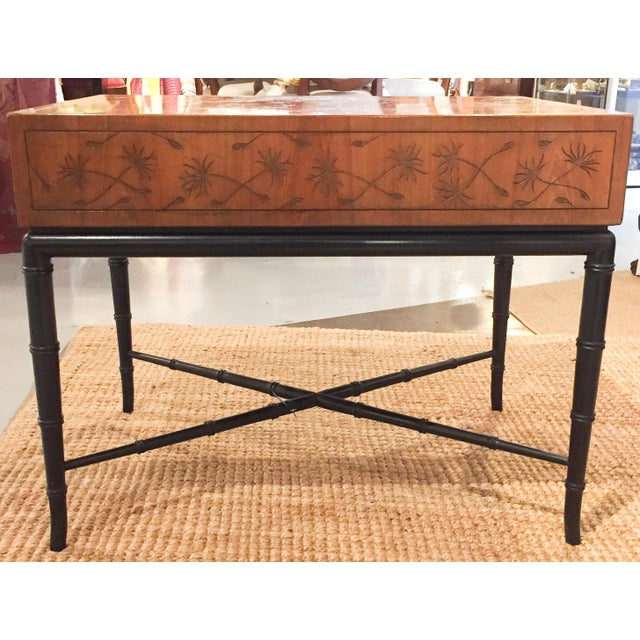 Mid-Century, Signed Kittinger Faux Bamboo Side Table - Image 2 of 8