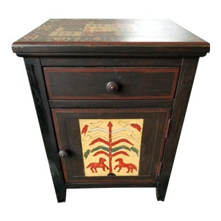 Drexel Heritage Touchstone Collection Hand Painted Side Table