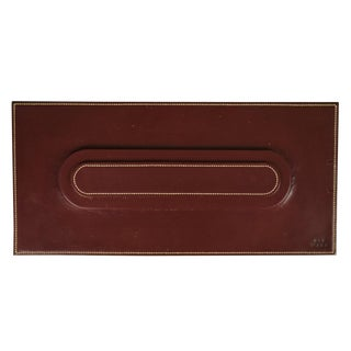 Hermes Burgundy Leather Dinner Placecard Setting Tray For Sale