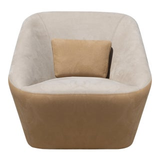 Prince Spencer Fabric Upholstered Club Chair For Sale