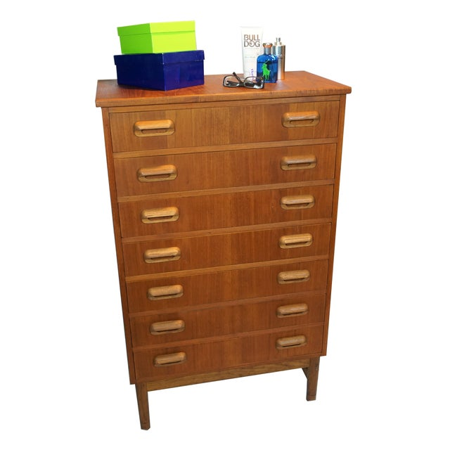 tall boy 7 drawer dresser chairish. Black Bedroom Furniture Sets. Home Design Ideas