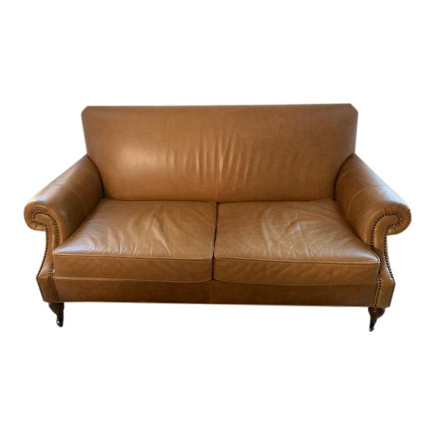 Enjoyable Pottery Barn Leather Loveseat Ocoug Best Dining Table And Chair Ideas Images Ocougorg