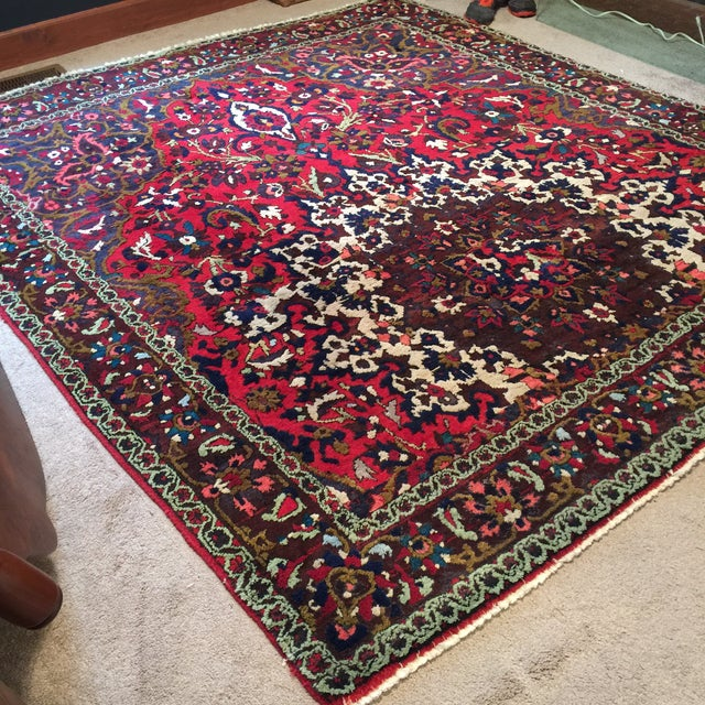 "Vintage Persian Rug 6'11"" X 7'11"" - Image 4 of 7"