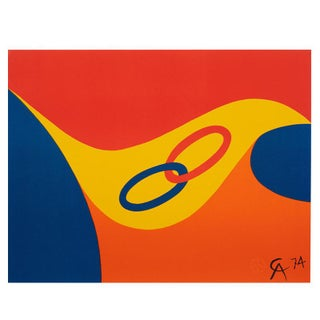 "Original Astonishing Alexander Calder ""Friendship"" Limited Edition Print Lithograph 1974 For Sale"