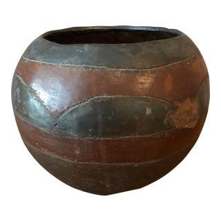 Vintage Haitian Pottery Vessel For Sale