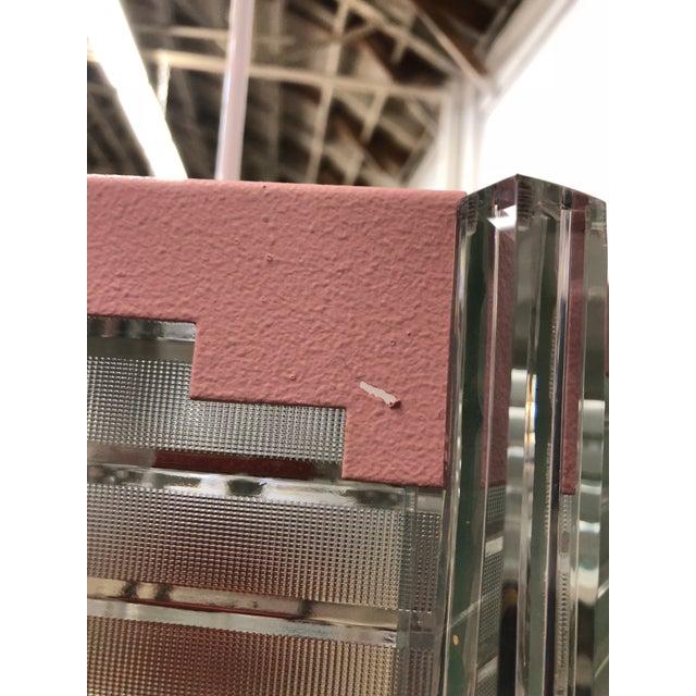 Pink Fredrick Ramond Mid Century Style Hanging Light For Sale - Image 8 of 11