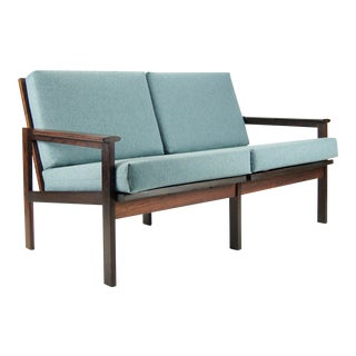 Illum Wikkelso for Niels Eilersen 2-Seat Rosewood Sofa For Sale