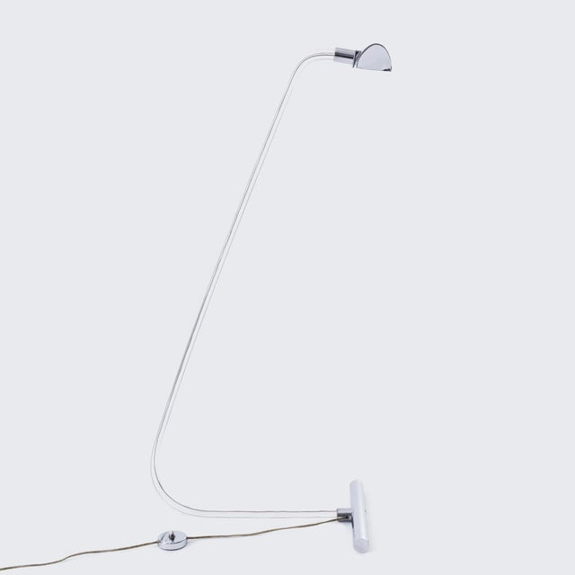 Peter Hamburger for Knoll 'Crylicord' Lucite and Chrome Floor Lamp For Sale In Chicago - Image 6 of 6