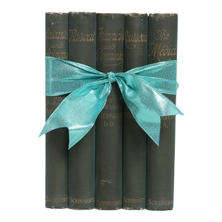 Vintage Book Gift Set: Philosophical Greens - Set of 5