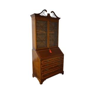 Antique 19th Century English Mahogany Chippendale Style Secretary Desk