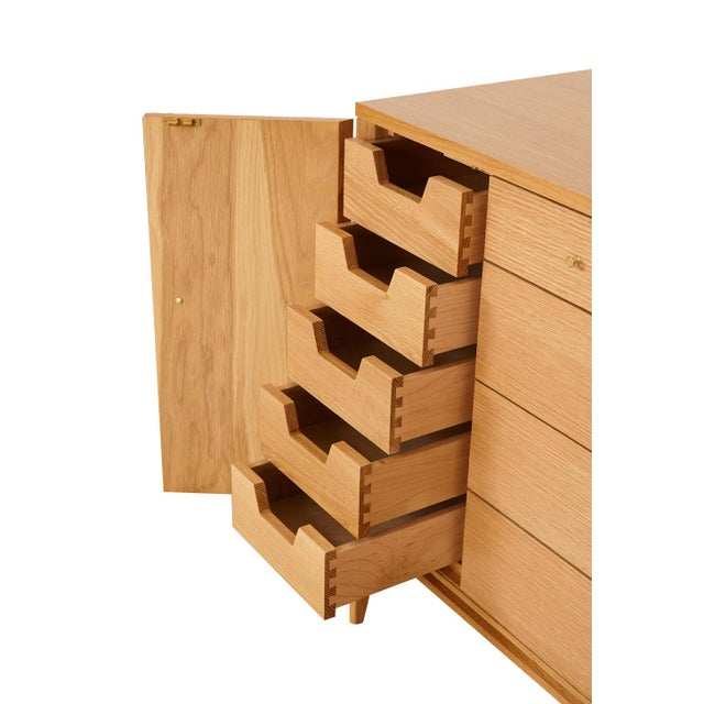 Mid-Century Modern Trapp 20-Drawer White Oak Dresser For Sale - Image 3 of 8