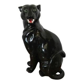 Vintage Ceramic Black Panther Figure