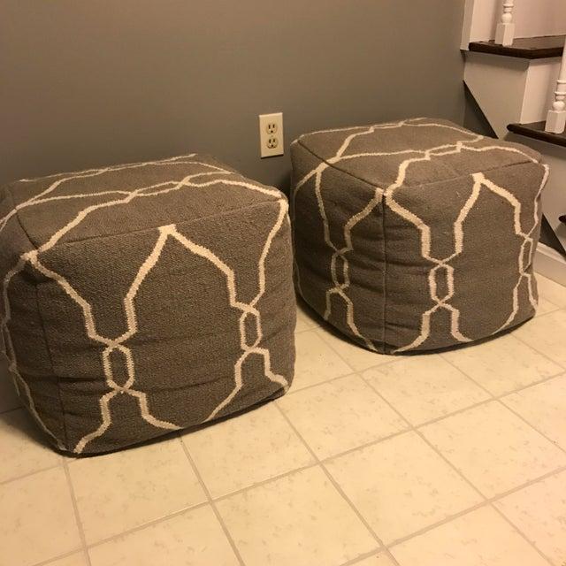 Jill Rosenwald Dhurrie Cube Poufs - Pair - Image 3 of 7
