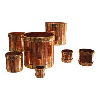A Complete Set of 19th Century Indian Brass & Copper Measures, Ca 1860 For Sale