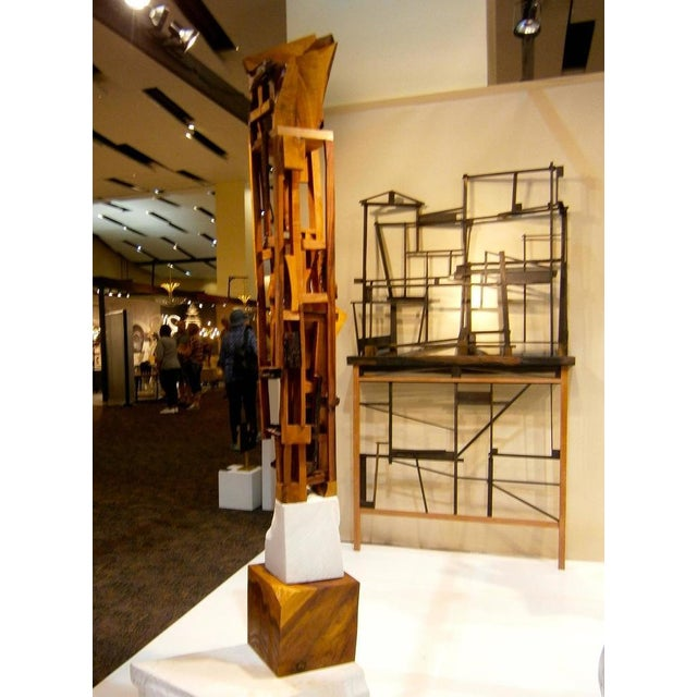 Trent Burkett Ebony Construction Sculpture - Image 5 of 5
