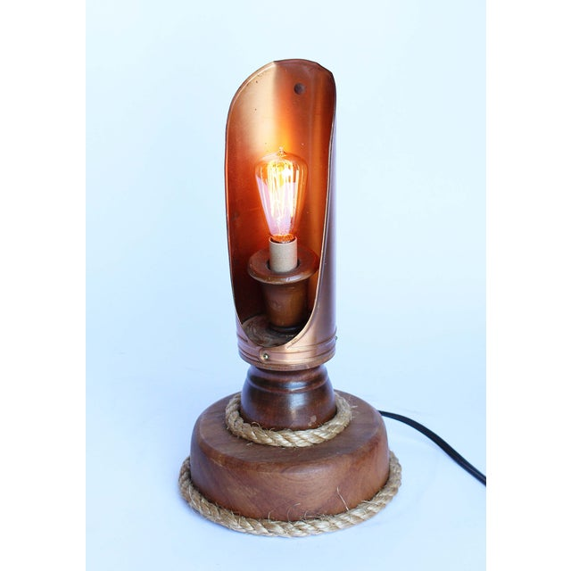 Vintage Copper Candle Holder Lamp - Image 3 of 5