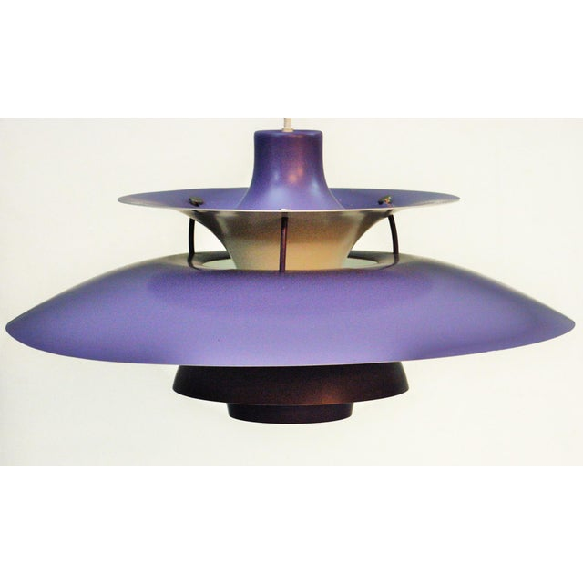 Lilac PH5 Hanging Lamp by Poul Henningsen for Louis Poulsen, 1958 For Sale - Image 9 of 11
