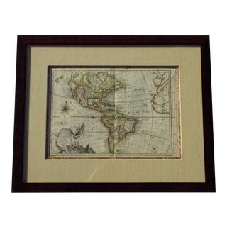 1769 Etienne-Andre Philippe De Pretot North America Map Print For Sale