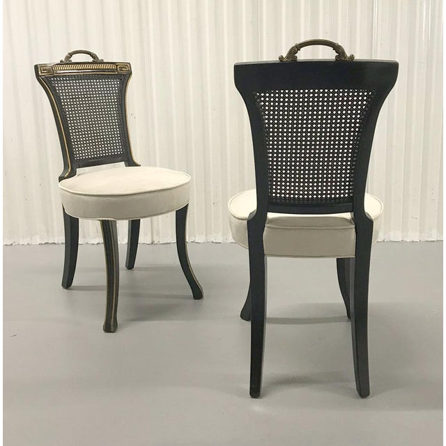 1960s Neoclassical Side Chairs — a Pair For Sale - Image 4 of 11