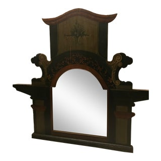 Late 20th Century Antique Style Van Thiel Mantle Mirror For Sale