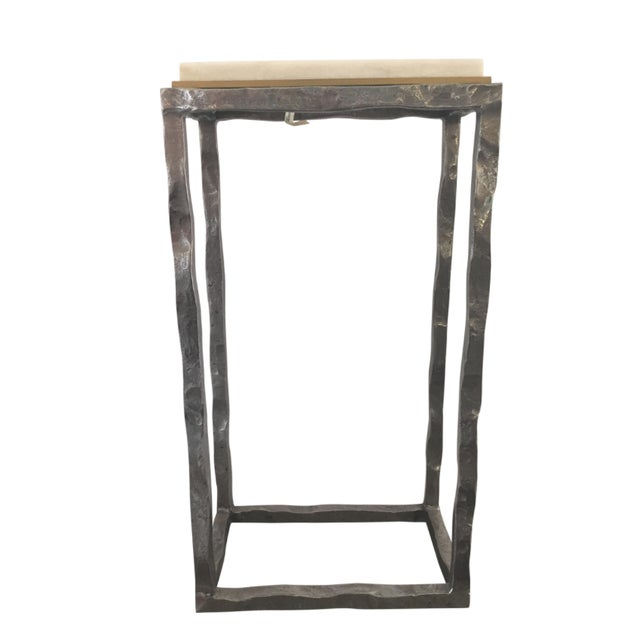 Modern Marble & Metal Sculpture Table For Sale - Image 5 of 5