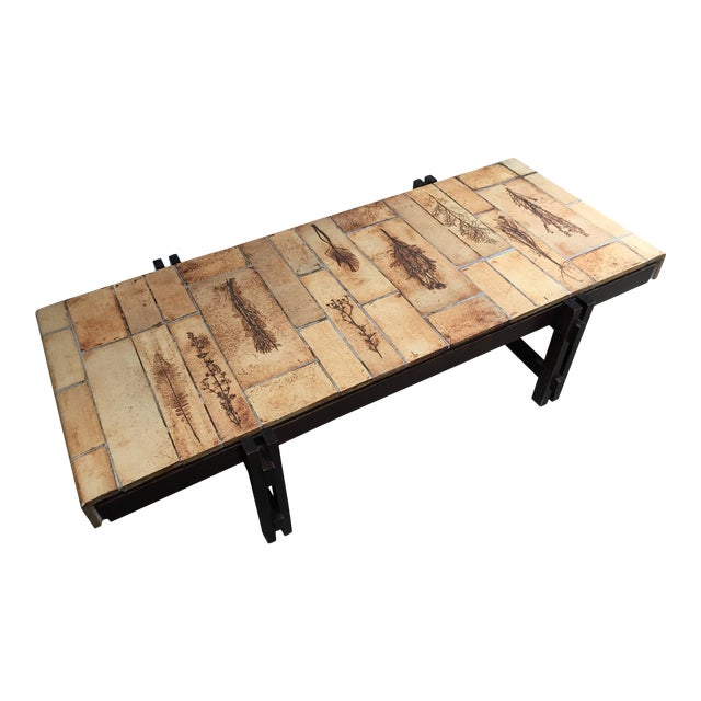 Roger Capron Tile Coffee Table Vallauris, France, 1960 For Sale