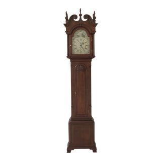 Sligh John Goddard Newport Cherry Grandfather Clock For Sale