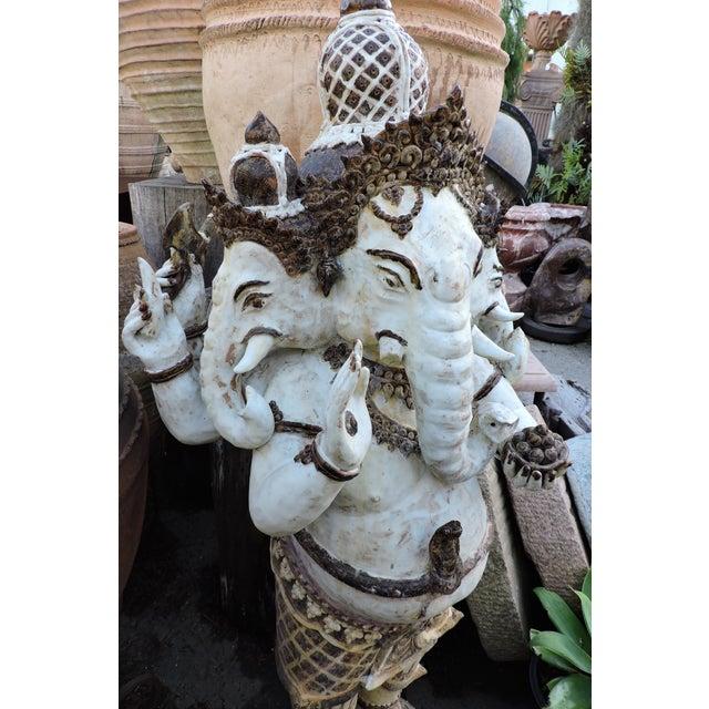 Asian Glazed Ceramic Ganesh For Sale - Image 3 of 6