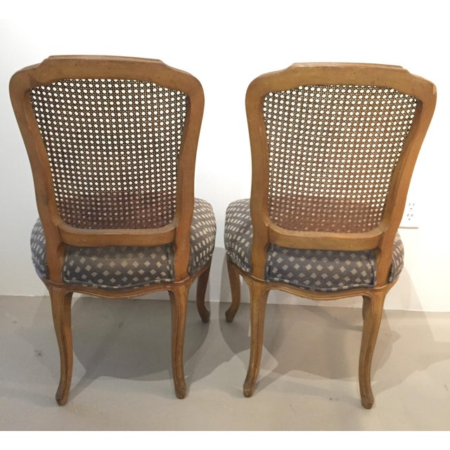 Queen Anne Caned Back Chairs - Set of 4 For Sale - Image 5 of 9