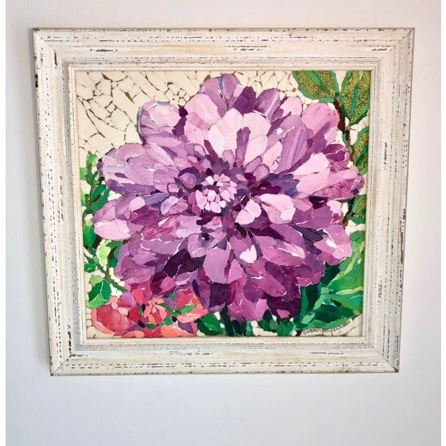 Contemporary Purple Peony Collage For Sale In Atlanta - Image 6 of 6