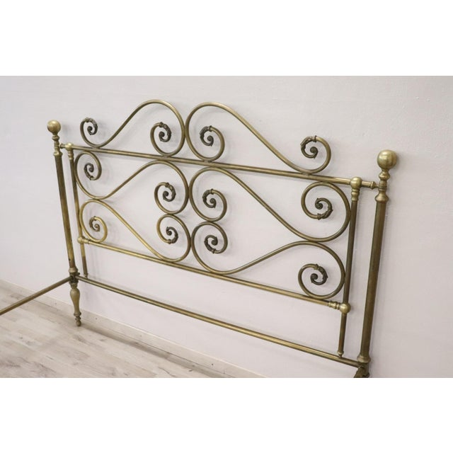 20th Century Italian All Brass Double Bed For Sale - Image 10 of 13