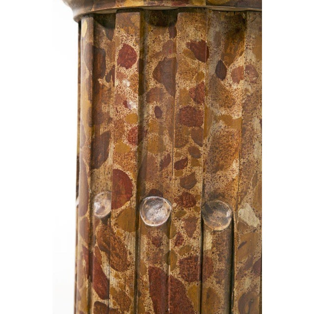 Circa 1890 Faux Painted Marble Column For Sale - Image 4 of 8