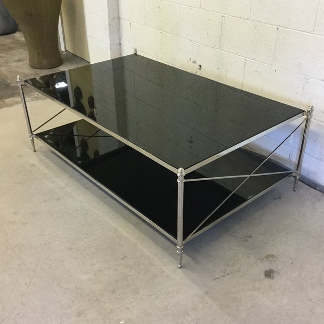 "Modern Theodore Alexander ""Lindridge"" Cocktail Coffee Table For Sale - Image 3 of 11"