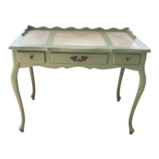 1960s Vintage French Inspired Distressed Writing Desk For Sale