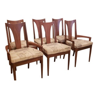 Mid-Century Broyhill Walnut Chairs - Set of 6 For Sale