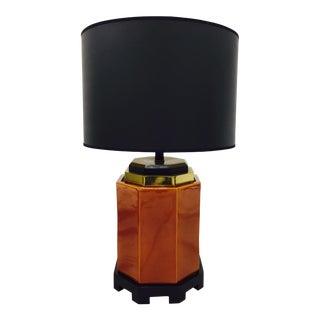 Vintage Mid-Century Amber Glazed Lamp