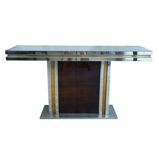 Romeo Rega Glass Top Console For Sale