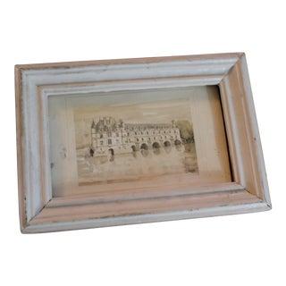 White Petitie Framed Art From Paris