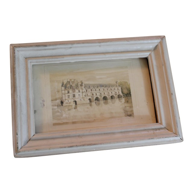 White Petitie Framed Art From Paris For Sale