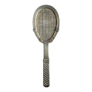 Vintage Large Brass Tennis Racquet Door Knocker For Sale