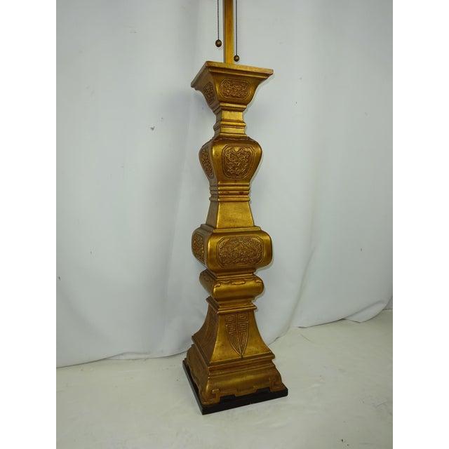 Large Italian Ceramic Lamp 5-1/2 ft. 1960s - Image 5 of 8