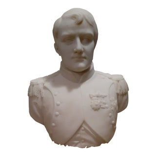 White Marble Napolean Bonaparte Statue For Sale