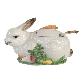 J Willfred Porcelain Rabbit Tureen For Sale