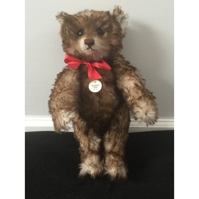 """An amazingly beautiful, fully jointed, 15"""" LE brown-tipped mohair Steiff Anniversary 1926 replica bear. One of a limited..."""