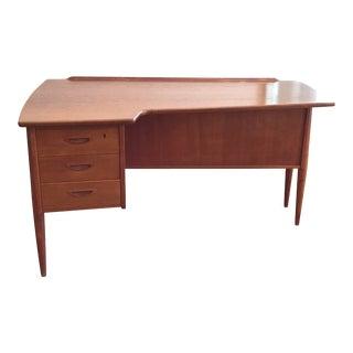 1960's Mid-Century Arne Vodder Teak Executive Desk For Sale