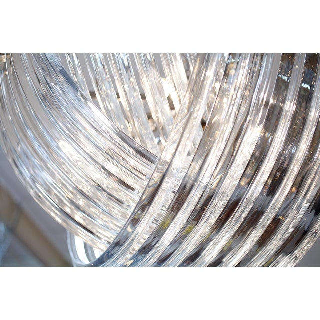 "Customizable Murano Glass ""Curve"" Chandelier For Sale In Austin - Image 6 of 10"