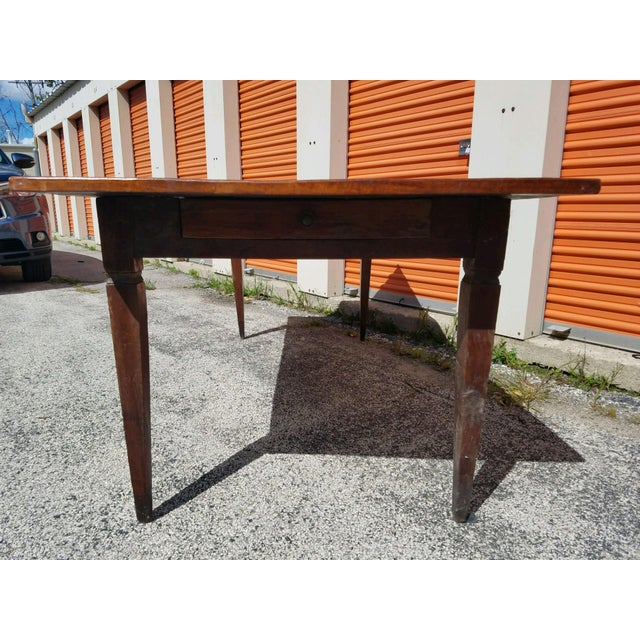 Antique French Farm Table - Image 4 of 8