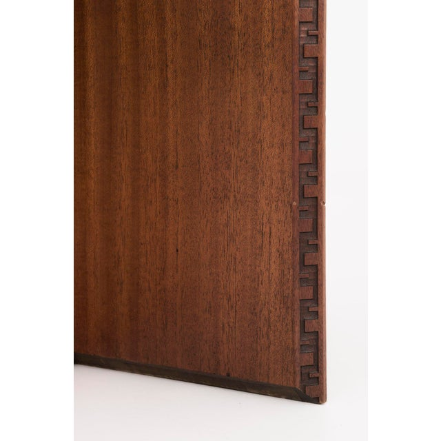 Mahogany Frank Lloyd Wright Side Table For Sale - Image 7 of 10