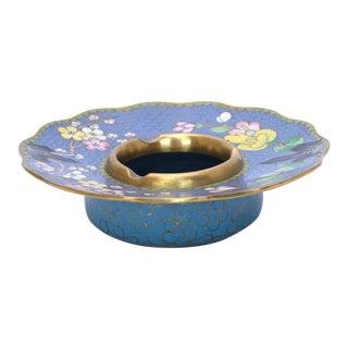Vintage Blue Cloisonné Ashtray For Sale